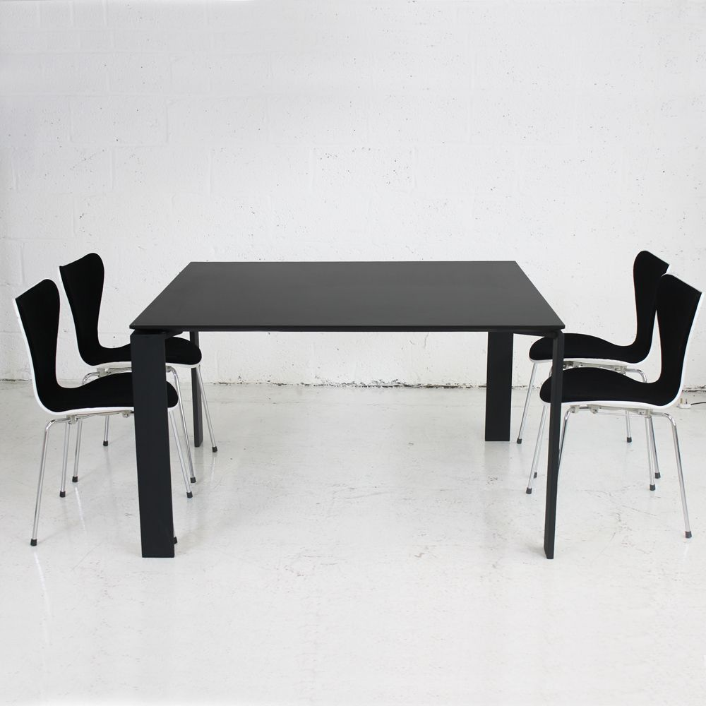 Unique Executive Desk Black Meeting Table With Black Frame | Black Table